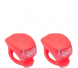 Urban Proof Up Siliconen Led Fietslampjes Set Koraal Roze