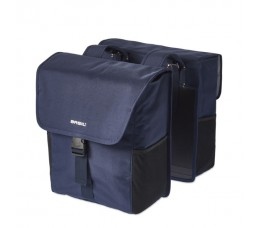 Basil Go Double Bag 32l Dark Denim Blue