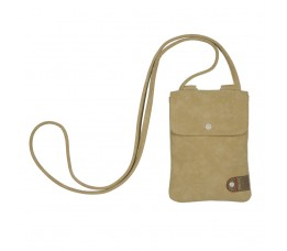 Cortina Cort Tunis Phone Bag Leat/canv Sand