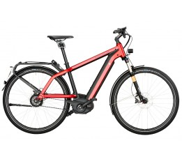 Riese Und Müller New Charger Gt Nuvinci Hs 500wh, Electric Red Metallic